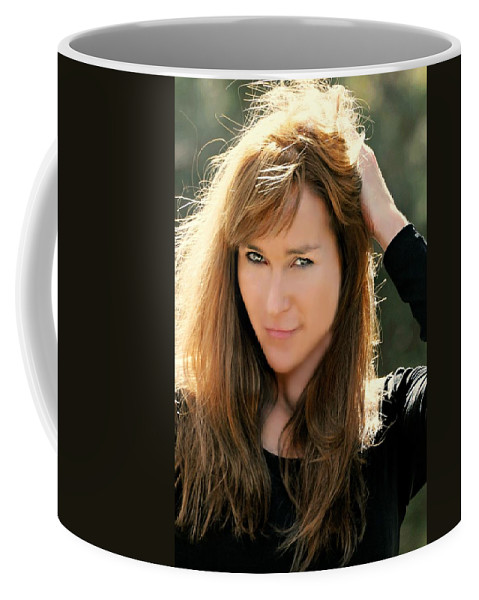 Model Coffee Mug featuring the photograph Cindy Two by Diana Angstadt