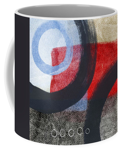 Circles Coffee Mug featuring the painting Circles 1 by Linda Woods