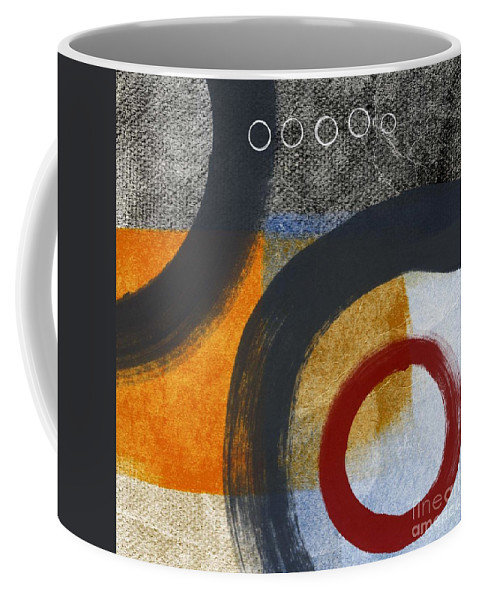 Circles Coffee Mug featuring the painting Circles 3 by Linda Woods