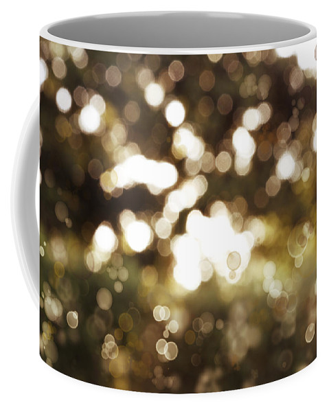 Spring Coffee Mug featuring the photograph Circles Background by Les Cunliffe