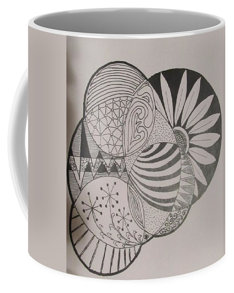Circles Coffee Mug featuring the painting Circles Of Zen Tangle by Sharon Duguay