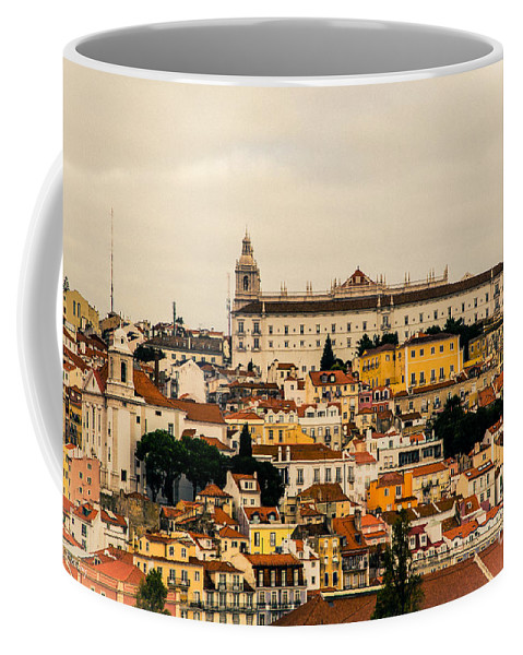 Lisbon Coffee Mug featuring the photograph City And Cathedral Lisbon Portugal by Rene Triay Photography