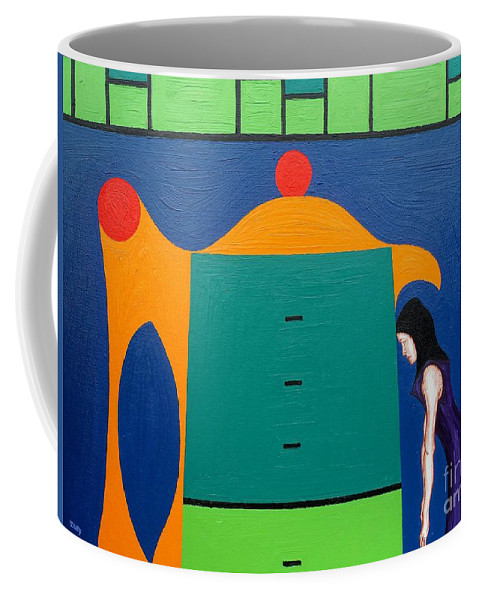 City Coffee Mug featuring the painting City At Night by Patrick J Murphy