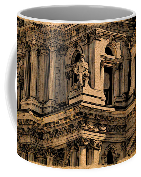 Philadelphia Coffee Mug featuring the photograph City Hall Closeup by Alice Gipson
