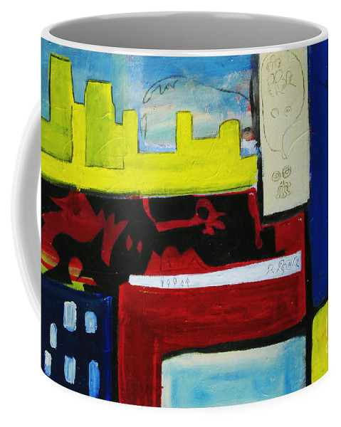 Painting Coffee Mug featuring the painting City Life by Jeff Barrett