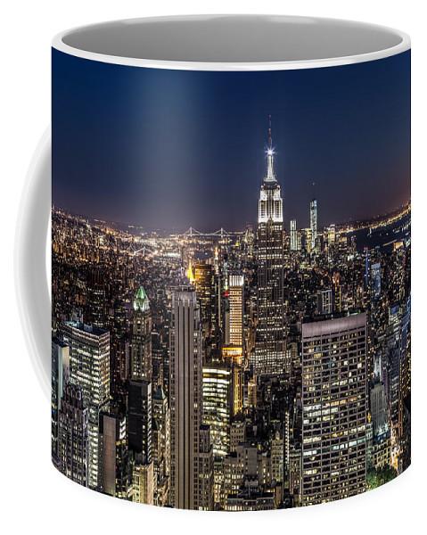 City Coffee Mug featuring the photograph City Lights by Mihai Andritoiu