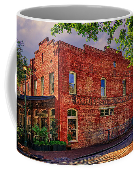 City Market At Savannah Coffee Mug featuring the photograph City Market At Savannah by Priscilla Burgers