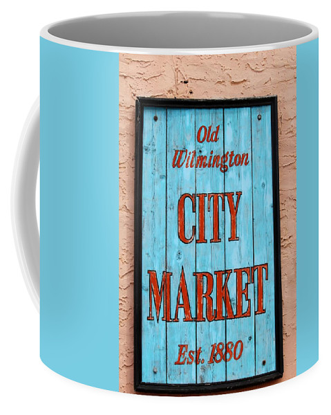 Wilmington Coffee Mug featuring the photograph City Market Sign by Cynthia Guinn