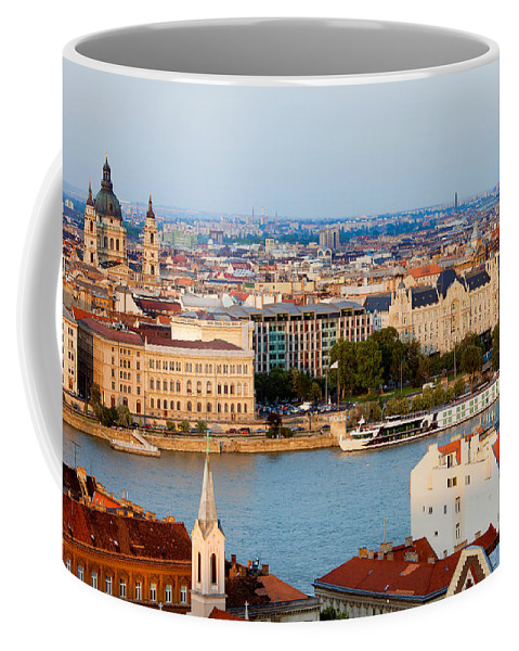 Budapest Coffee Mug featuring the photograph City Of Budapest Cityscape by Artur Bogacki