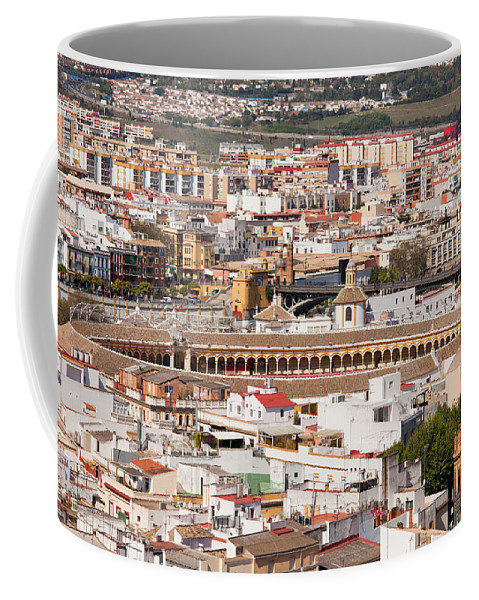 Seville Coffee Mug featuring the photograph City Of Seville Cityscape In Spain by Artur Bogacki