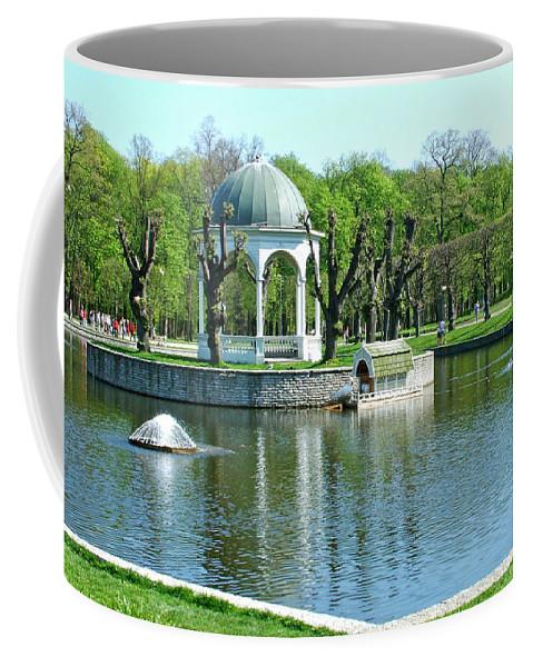 City Park In Tallinn Coffee Mug featuring the photograph City Park In Tallinn-estonia by Ruth Hager