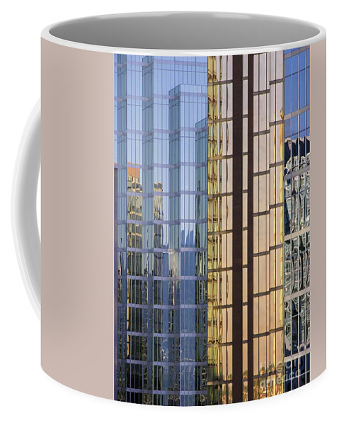 Urban Coffee Mug featuring the photograph City Reflections by Sandra Bronstein
