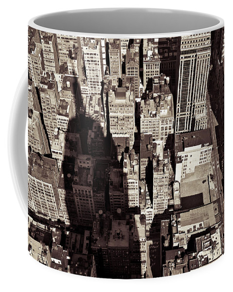 New York Coffee Mug featuring the photograph City Shadow by Dave Bowman