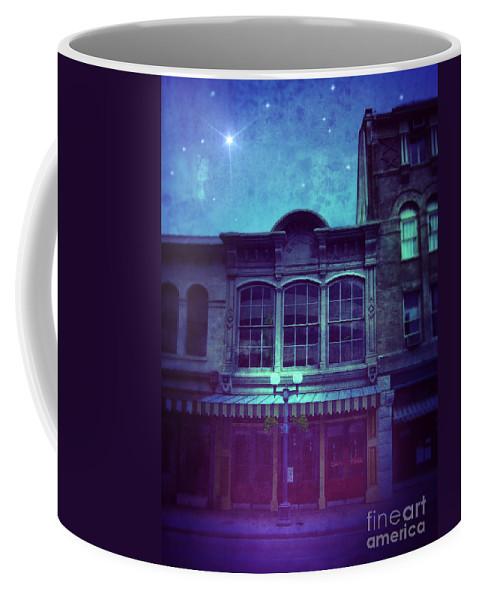 City Coffee Mug featuring the photograph City Street At Night by Jill Battaglia