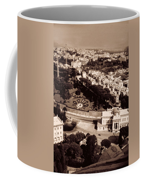 Black And White Coffee Mug featuring the photograph City Vista 2 by Cathy Anderson