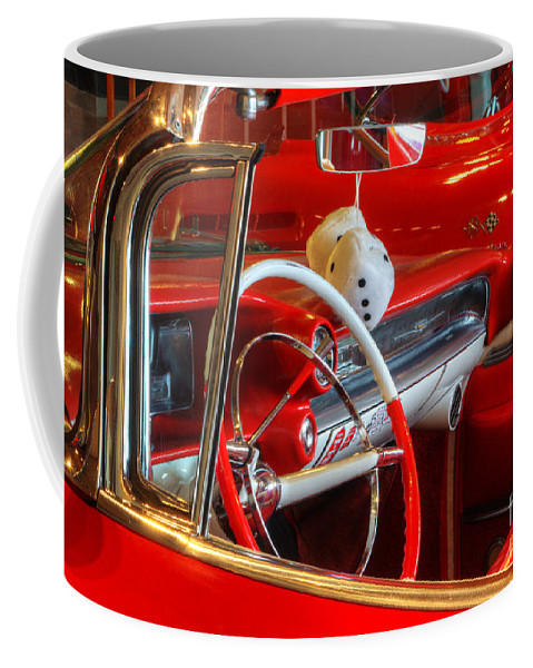 Cars Coffee Mug featuring the photograph Classic Cadillac Beauty In Red by Bob Christopher