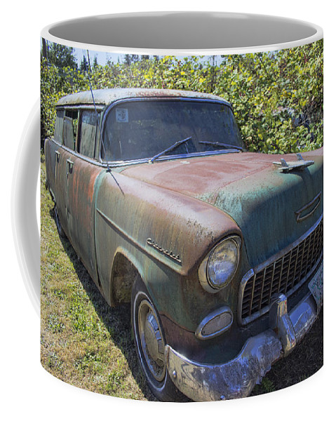 Coffee Mug featuring the photograph Classic Chevy With Rust by Cathy Anderson