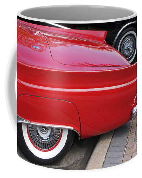 Classic Car Coffee Mug featuring the photograph Classic Red And Black by Ann Horn