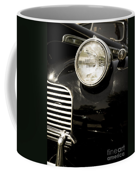 Automobile Coffee Mug featuring the photograph Classic Vintage Car Black And White by Edward Fielding