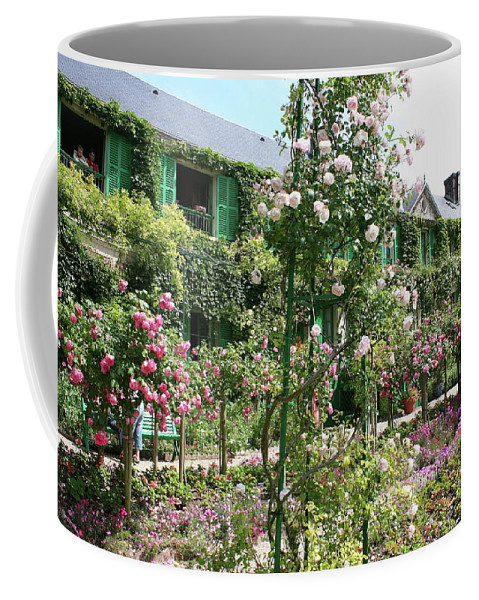 House Coffee Mug featuring the photograph Claude Monets House - Giverney by Christiane Schulze Art And Photography