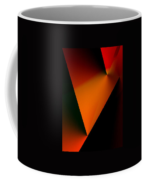 Abstract Coffee Mug featuring the digital art Clean Angled Composition by Ian MacDonald