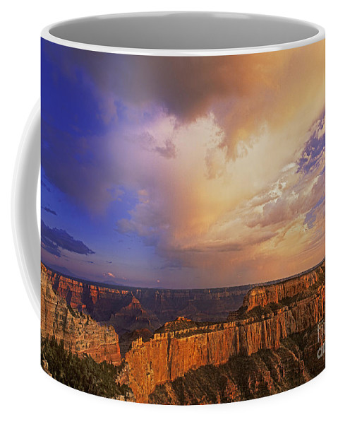 Grand Canyon Coffee Mug featuring the photograph Clearing Storm Cape Royal North Rim Grand Canyon Np Arizona by Dave Welling