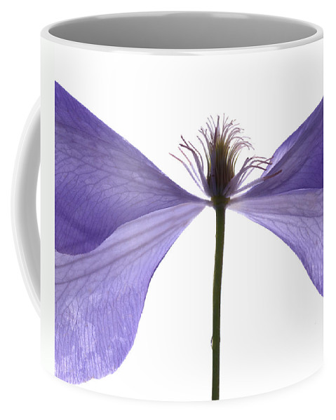 Clematis Coffee Mug featuring the digital art Clematis Float by Julia McLemore