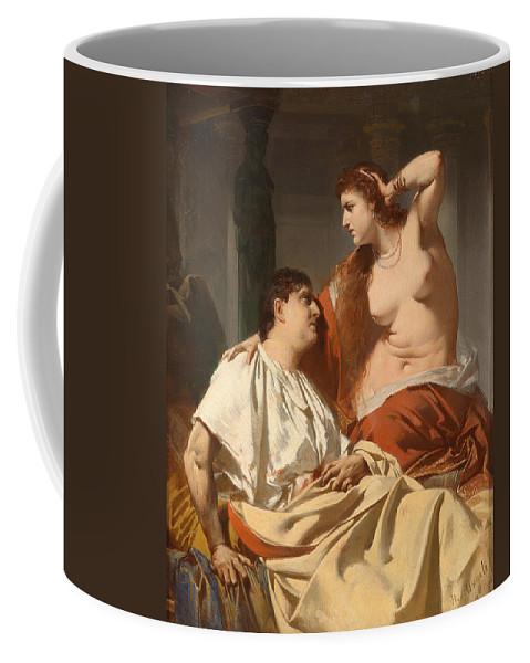 Heinrich Von Angeli Coffee Mug featuring the painting Cleopatra And Antony by Heinrich von Angeli