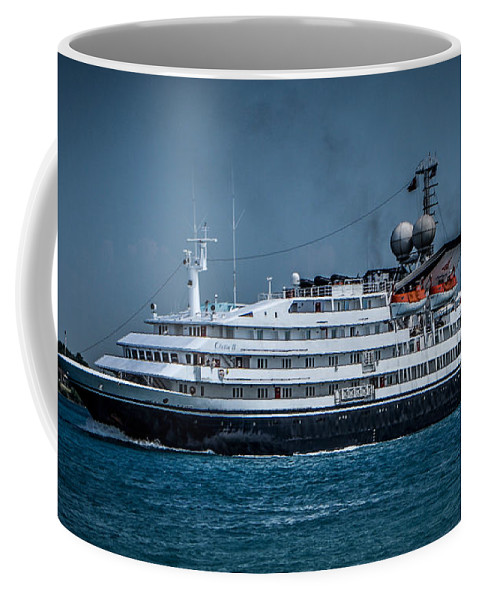 Ship. White Coffee Mug featuring the photograph Cletia II by Ronald Grogan