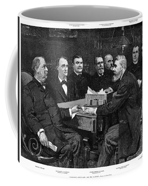 1893 Coffee Mug featuring the painting Cleveland Cabinet, 1893 by Granger