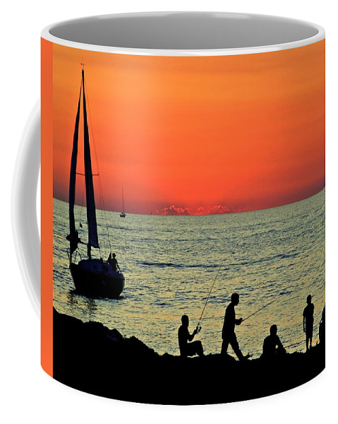 Spy Coffee Mug featuring the photograph Cleveland Lakefront by Frozen in Time Fine Art Photography
