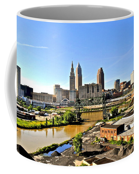 Cleveland Coffee Mug featuring the photograph Cleveland Ohio by Frozen in Time Fine Art Photography