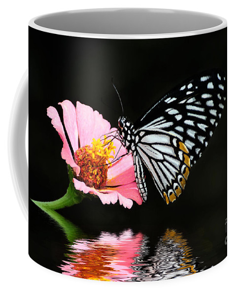 Butterfly Coffee Mug featuring the photograph Cliche by Lois Bryan
