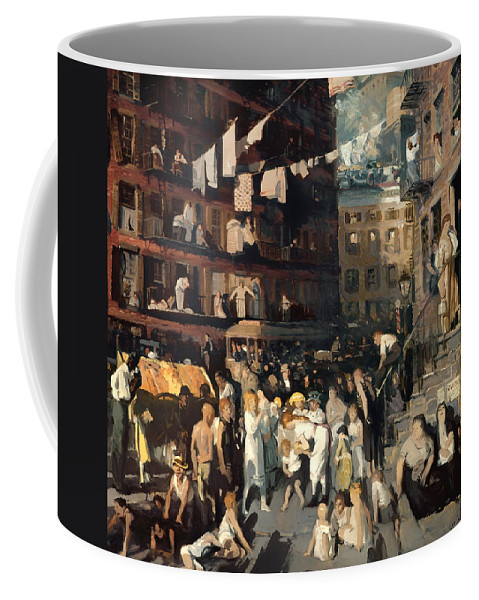 New York City Coffee Mug featuring the painting Cliff Dwellers by Mountain Dreams