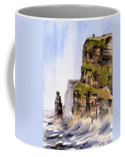 Val Byrne Coffee Mug featuring the painting Clare  The Cliffs Of Moher  by Val Byrne