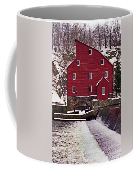 Mill Coffee Mug featuring the photograph Clinton Mill by Skip Willits