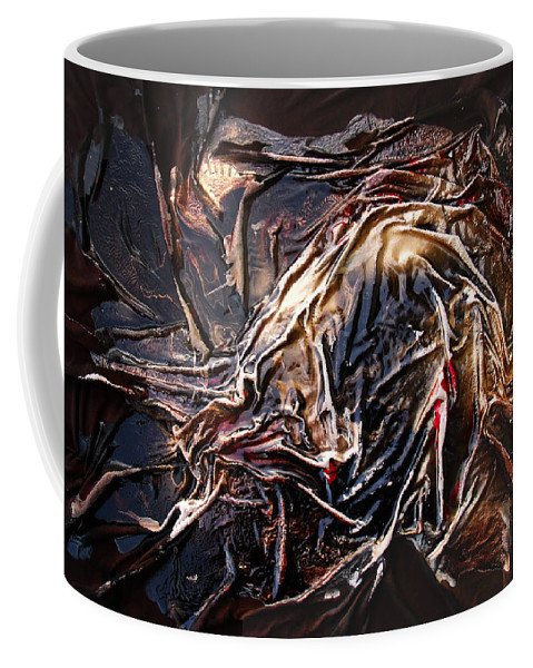 Abstract Coffee Mug featuring the mixed media Cloaked In The Wind by Angela Stout
