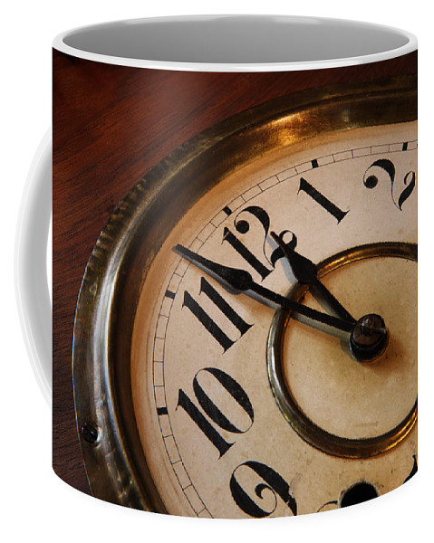 Very Coffee Mug featuring the photograph Clock face by Johan Swanepoel