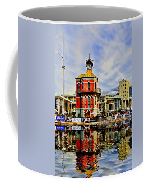 Arquitecture Coffee Mug featuring the photograph Clock Tower by Maria Coulson
