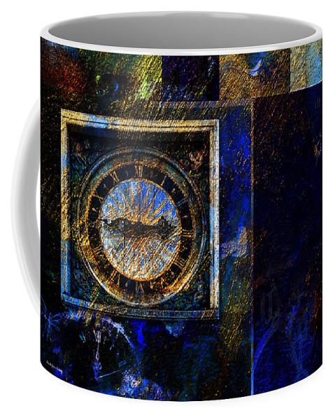 Clocks Coffee Mug featuring the photograph Clocks by Randi Grace Nilsberg