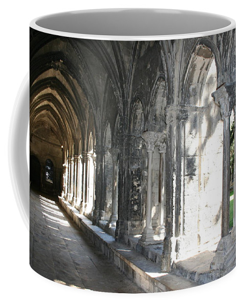 Cloister Coffee Mug featuring the photograph Cloister Arches Arles by Christiane Schulze Art And Photography
