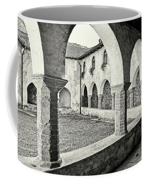 Architecture Coffee Mug featuring the photograph Cloister by Roberto Pagani