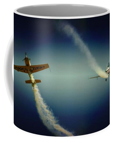 Aerobatics Coffee Mug featuring the photograph Close Flying by Paul Job