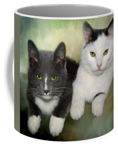 Animals Coffee Mug featuring the photograph Close Friends by Annie Snel
