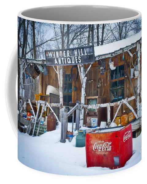 Winter Hill Antiques Coffee Mug featuring the photograph Closed For The Season by Alana Ranney