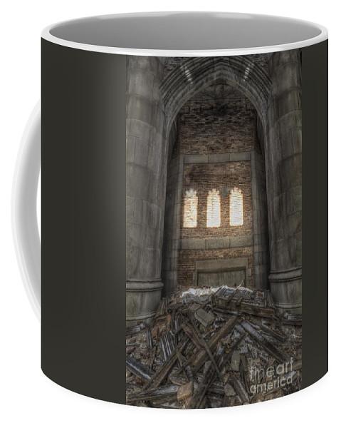 Church Coffee Mug featuring the photograph Closed Windows by Margie Hurwich