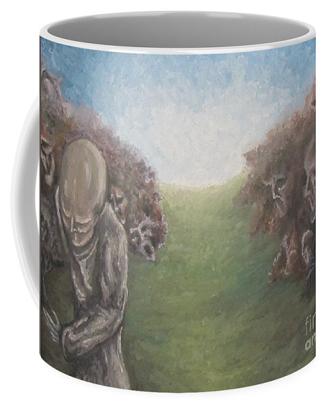Tmad Coffee Mug featuring the painting Closure by Michael TMAD Finney