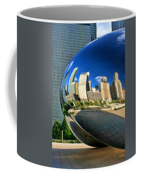 Chicago Coffee Mug featuring the painting Cloud Gate Bean by Christopher Arndt