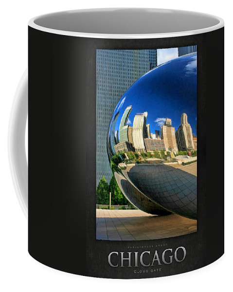Chicago Coffee Mug featuring the painting Cloud Gate Bean Poster by Christopher Arndt