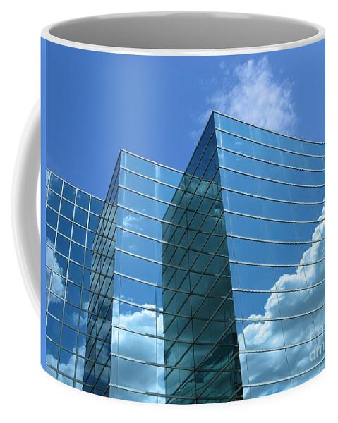 Building Coffee Mug featuring the photograph Cloud Mirror by Ann Horn